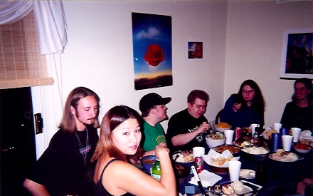 """Our first big group dinner…we cooked """"Thanksgiving"""" for 10+ people..."""