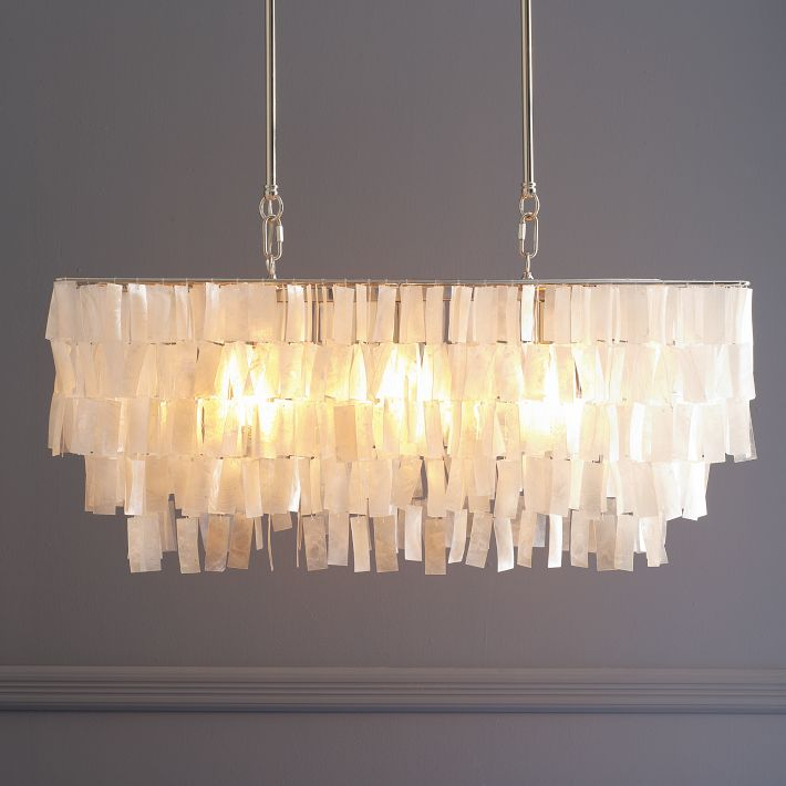Capiz shell chandelier from West Elm