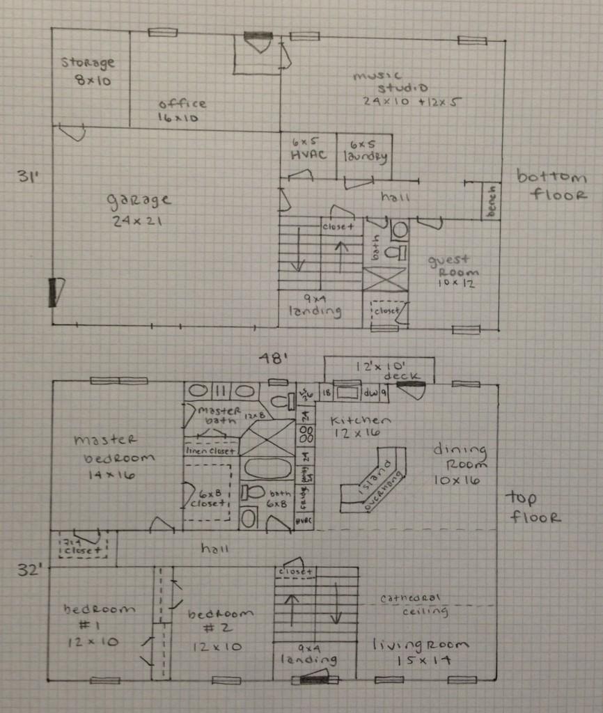 Floor plan as of 2/14/2013