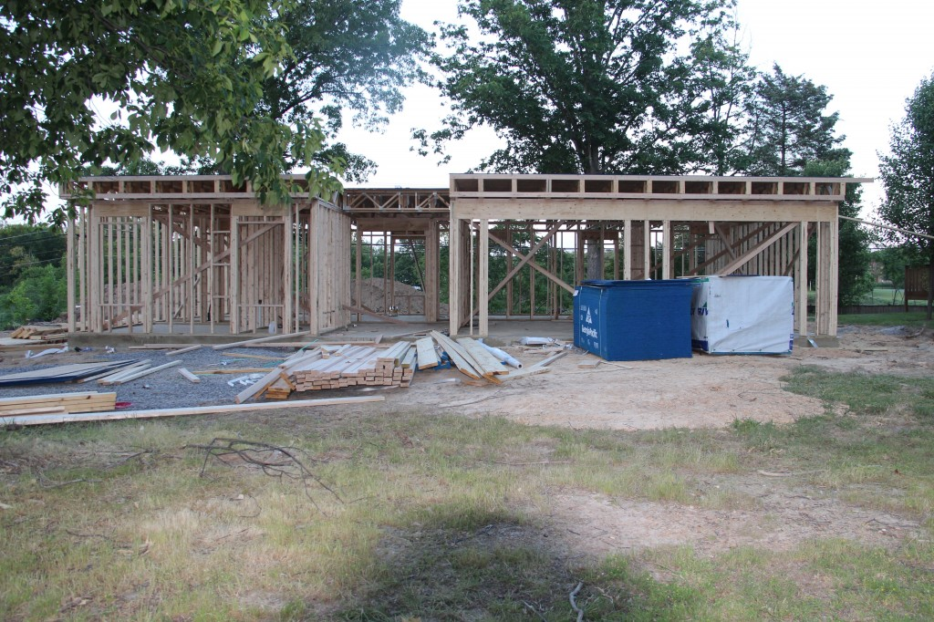 First floor framed - May 31st, 2013