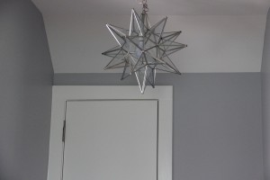 Shades of Light Moravian Star Pendant for the Mudroom