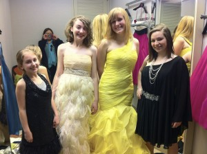 Trying on dresses at Tyson's Corner - March 2011