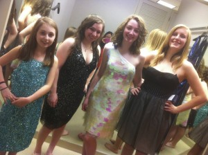 And trying on dresses in Tyson's Corner a year later! - March 2012