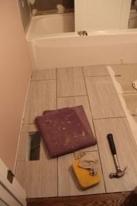 Main bath floor tile