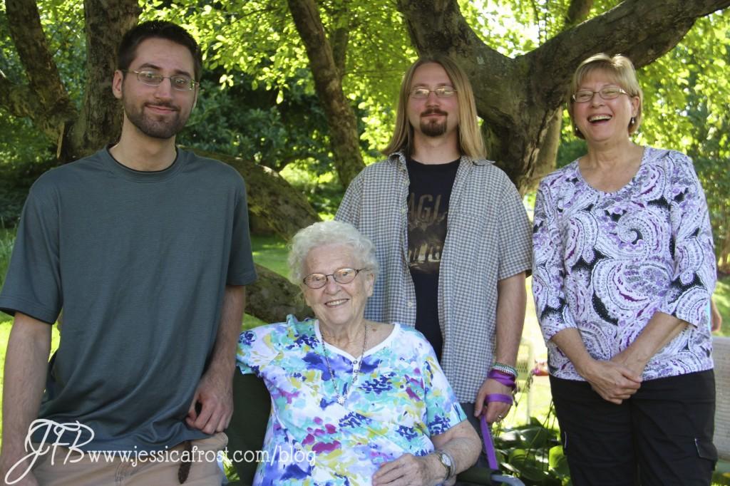 Dan, Grandma Bonnie, Steve, and Mrs. Ballas